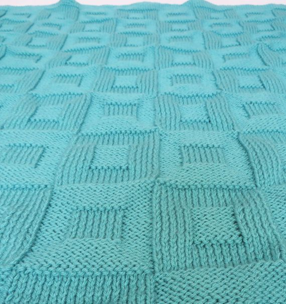 Knitting Pattern For Baby Blanket Squares : Knit Pattern: Knit Baby Blanket Pattern Square in a Square