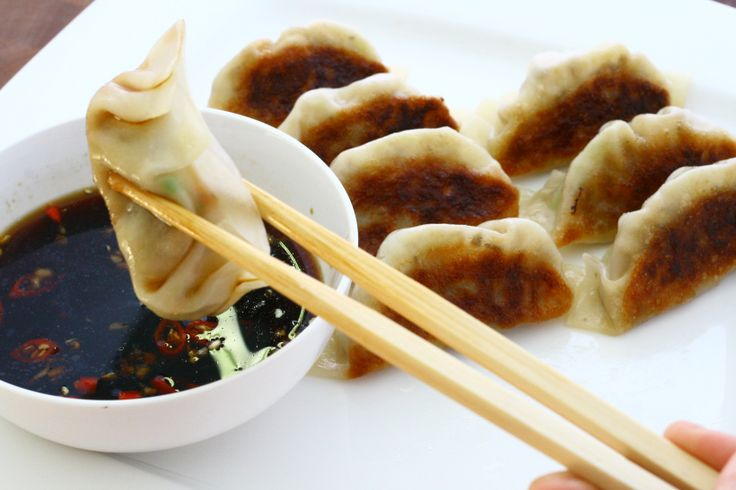 vegetarian potstickers. filled with tofu, shiitake mushrooms, and ...