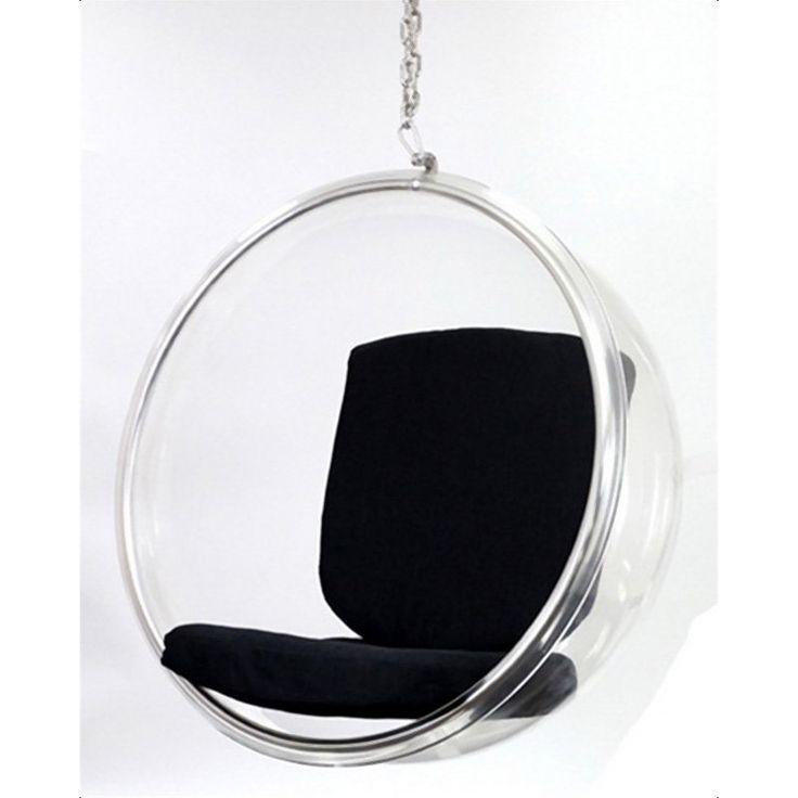 Bubble Hanging Chair Black Black & White