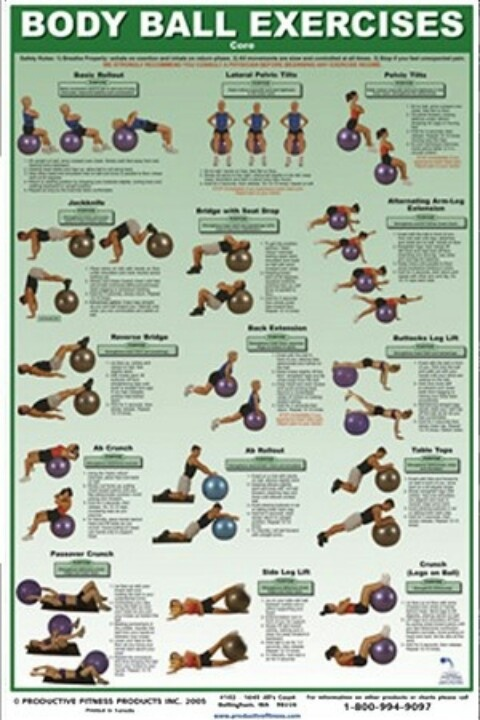 Body ball exercises | Getting my workout on! | Pinterest