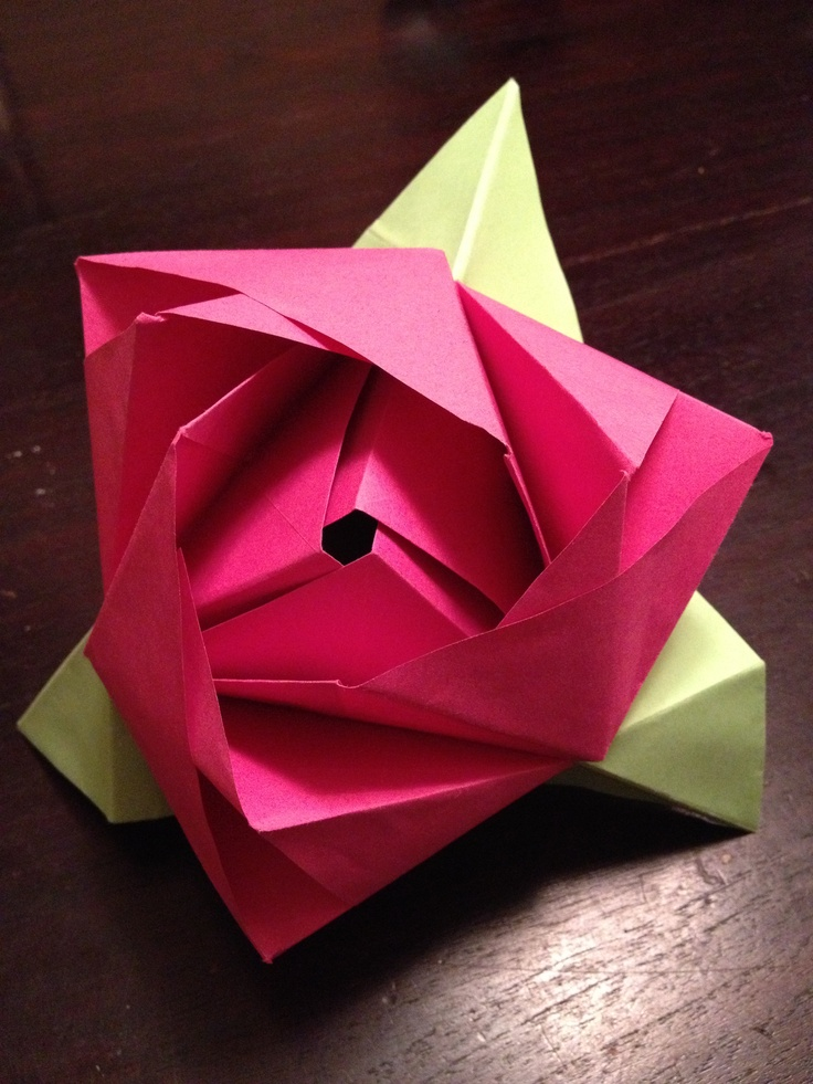 origami box rose grated fun pinterest