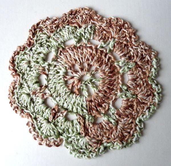 Crochet round dish cloth crochet Pinterest