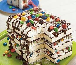 Ice cream sandwich cake..Looks yummy!