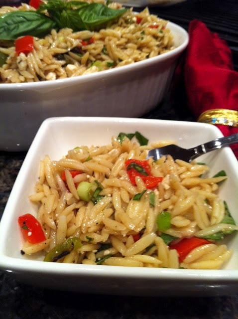 Love her recipes!! Orzo Pasta with feta and fresh basil