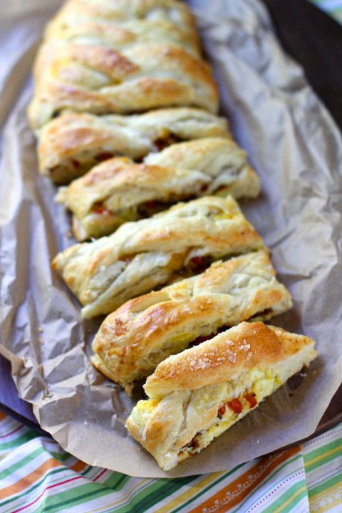 Bacon Egg & Cheese Breakfast Braid via The Baker Chick