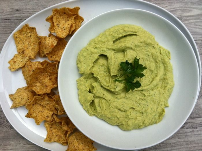 Avocado Hummus // A Cedar Spoon