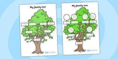 French Family Tree Template For Kids