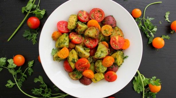 recipe chimichurri potato amp tomato salad poor girl eats well how to ...