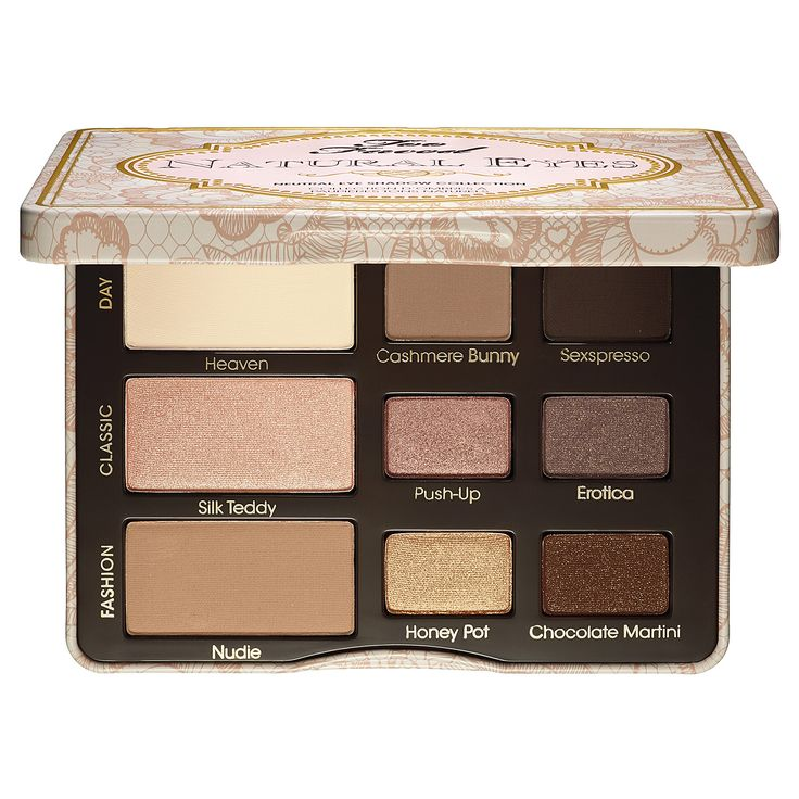 Two Faced Natural Eye Neutral Eye Shadow Collection