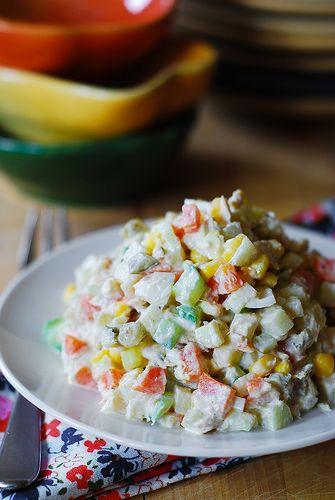 Potato salad with tuna (Olivier Russian Salad) | Recipe