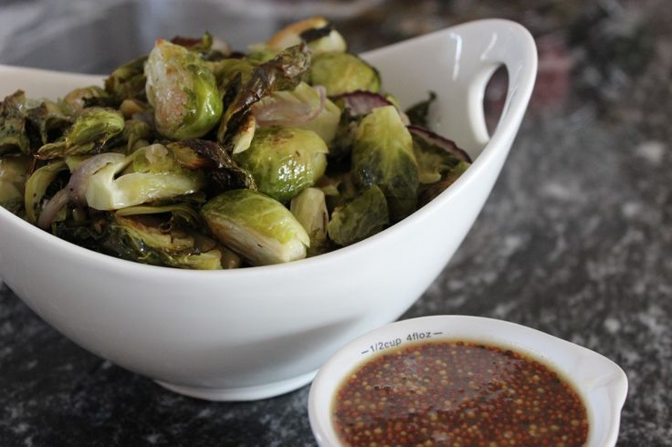 Maple Dijon Roasted Brussels Sprouts | foodies | Pinterest