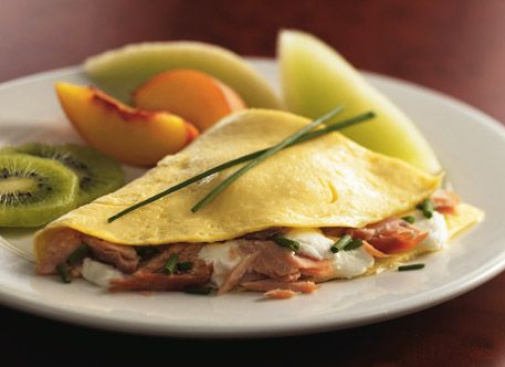 ... and Better'n Eggs: Smoked Salmon, Cream Cheese and Chive Omelet Recipe