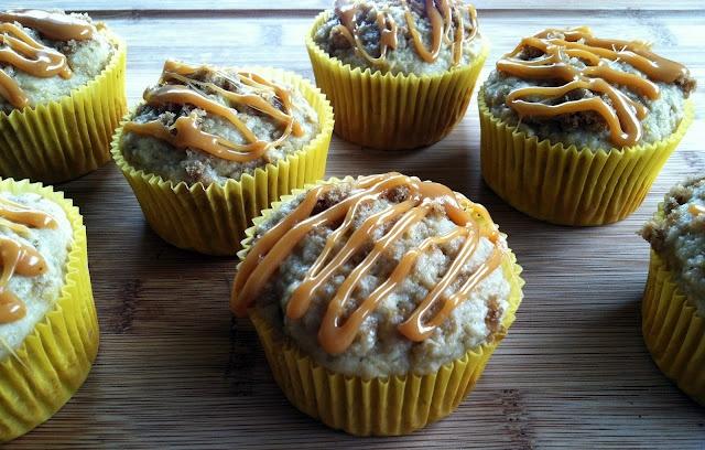 Roasted banana caramel muffins. | Cake and Cupcake | Pinterest