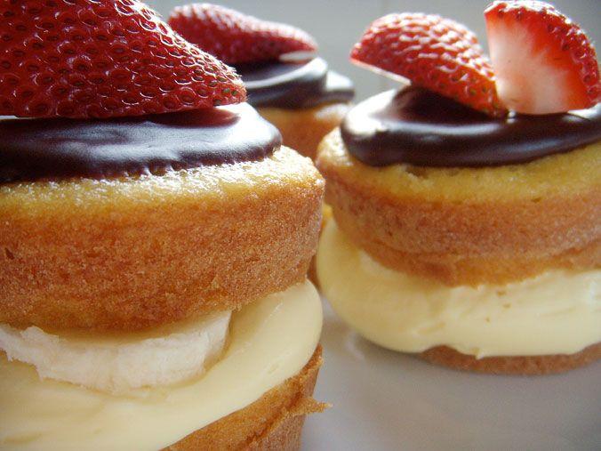 Boston cream pie cupcakes | Cupcakes...yes, just cupcakes | Pinterest