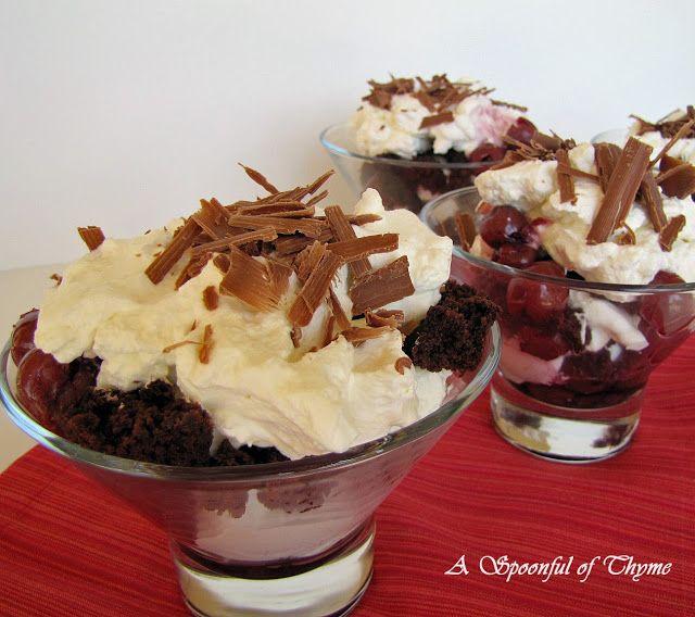 Black Forest Trifle | TRIFLE DESSERT | Pinterest