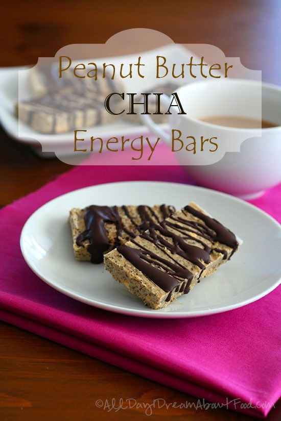 Peanut Butter Chia Seed Energy Bars - Low Carb and Gluten-Free
