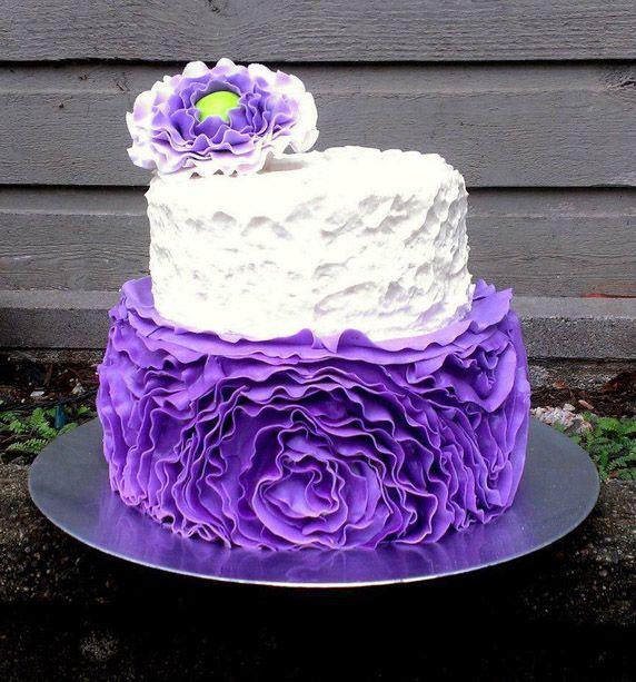 Beautiful Purple & White Textured Cake Ladies Cakes ...