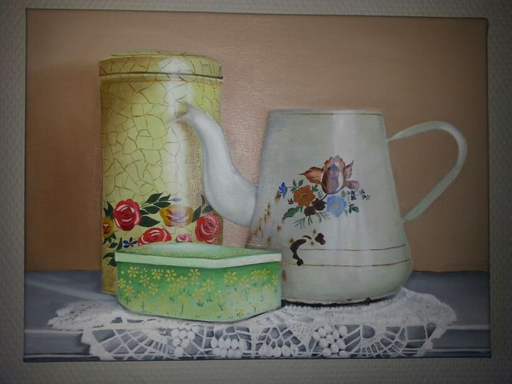 Brocante Keuken Pinterest : Brocante keuken kitchen stilleven painting art