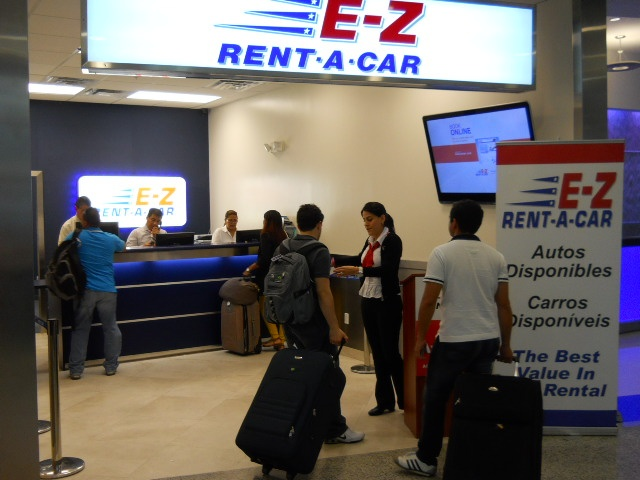 Comments about E-Z Rent-A-Car: First of all the facility is unwelcoming and not clean. After signing the paperwork and getting the keys, the EZ Rental team member instructed me to go to the parking lot unaccompanied
