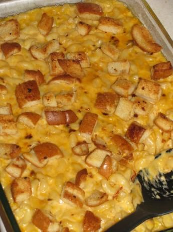 Macaroni And Cheese With Garlic Bread Crumbs, Plain And ...