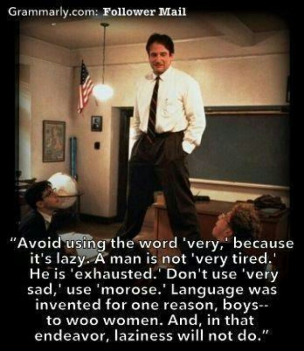 the dead poets society english language essay Tia poindexter december 25th, 2012 english 12 in the film, dead poets society, welton academy is founded on tradition and excellence and is set on providing strict structured lessons by.
