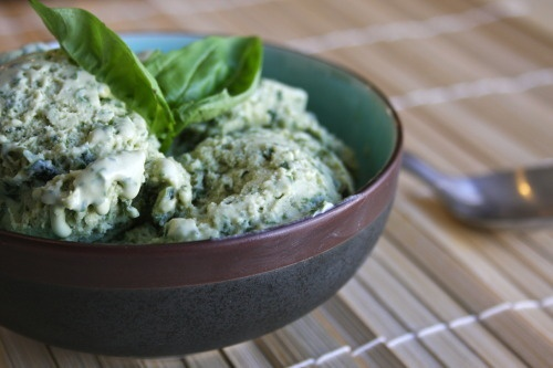 Basil Ice Cream. I'll have to try this-- Next flavor for my ice cream ...