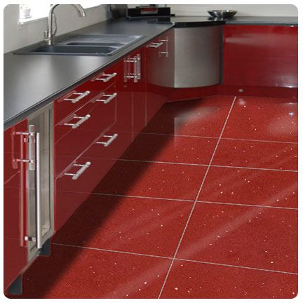 Ruby Red Quartz Wall And Kitchen Floor Tile
