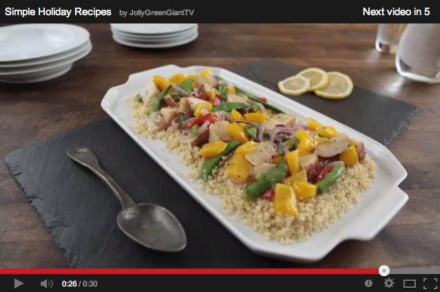 Garden Vegetables with Lemon-Scented Quinoa (Video) https://www ...