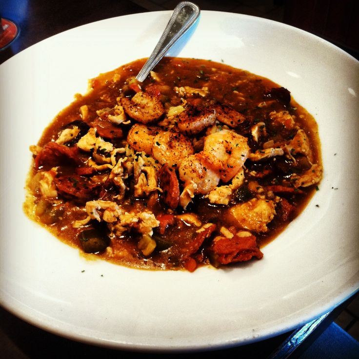 French Quarter gumbo, or what passes for it in Bismarck, North Dakota.