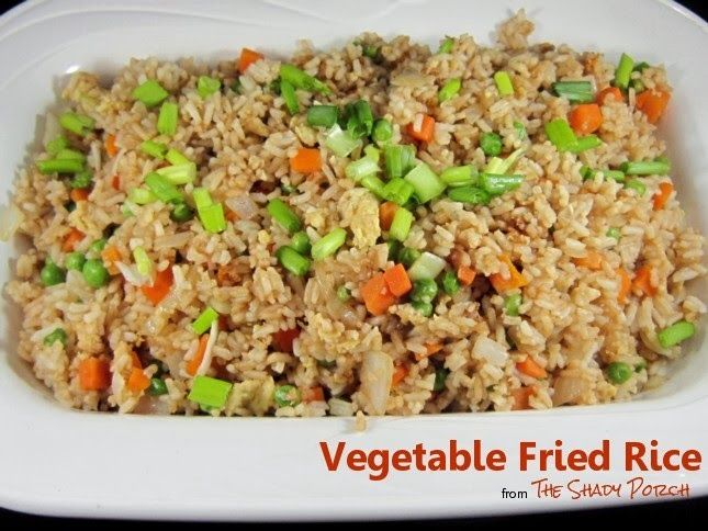 Vegetable Fried Rice Recipe — Dishmaps
