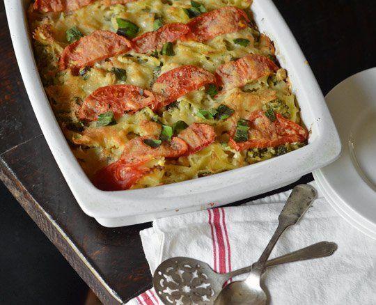 tomato broccoli amp mozzarella pasta casserole veganize with daiya ...