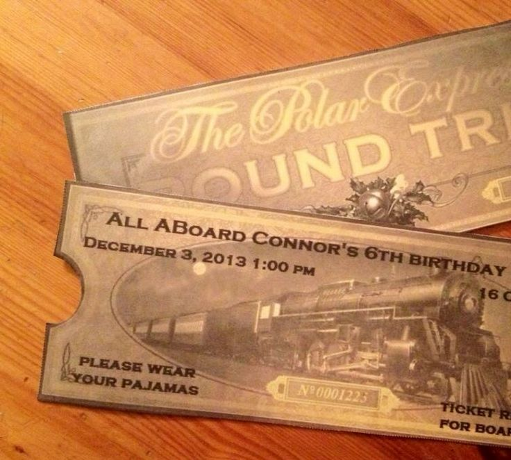Tickets were party invitations | Polar express birthday party | Pinte ...