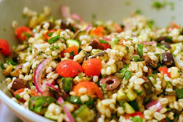 Mediterranean Eggplant and Barley Salad | wham wham's and zoo zoo's ...
