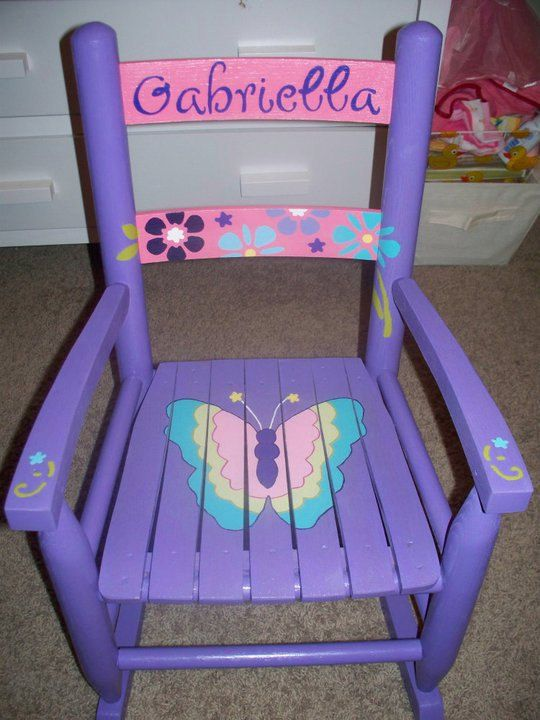 Hand painted rocking chairs.