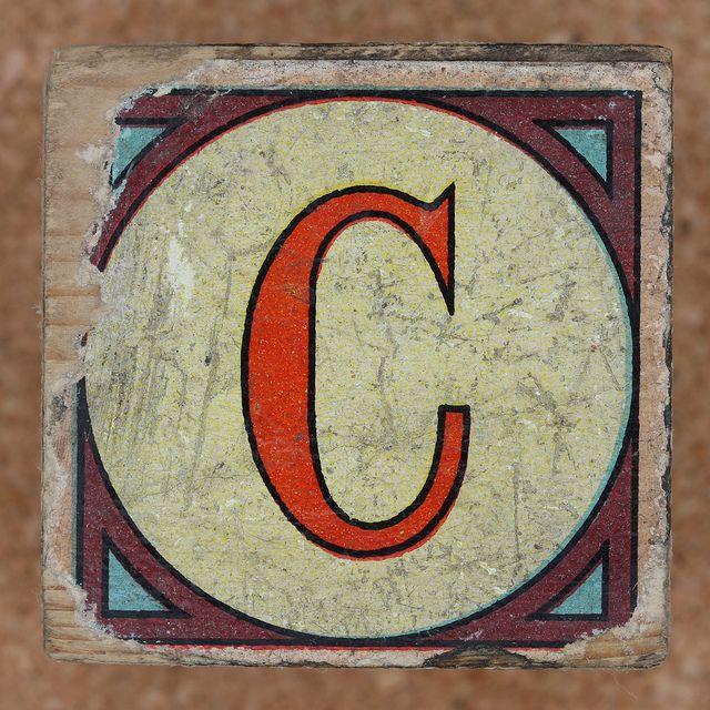 Vintage Letter C 73