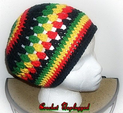 HOW TO CROCHET A RASTA HAT, snood, tam, beret. - YouTube