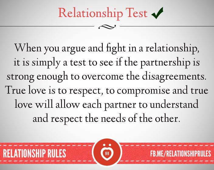 and relationship test