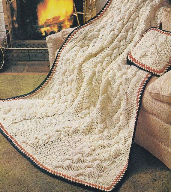 24 Afghan Patterns - McCalls Book of Afghans - Aran Knitting Pattern?