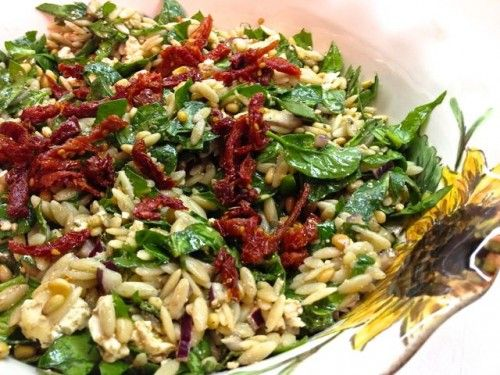 Spinach and Orzo Salad | Recipe
