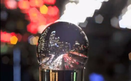 So completely cool    Time-lapse captures Los Angeles through a snow globe ~ made with over 4000 still images