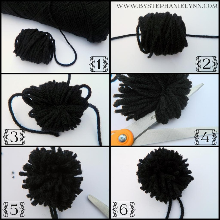 how to make yarn pom poms for luggage