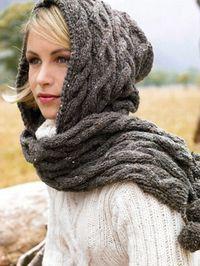 Anleitung für einen Kapuzenschal aus Lana Grossa Royal Tweed  Zu finden unter Herbst/Winter 2007