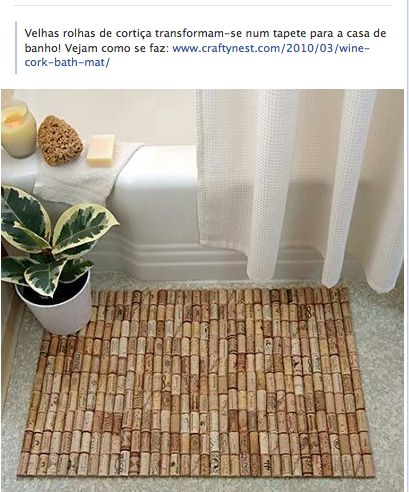 Pin by madeleine laferney on apartment pinterest for Wine cork welcome mat