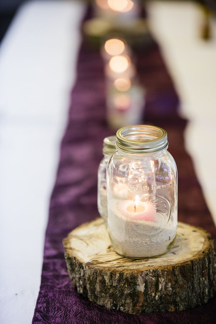 Mason jar centerpieces wedding ideas pinterest for Mason jar wedding centerpiece ideas