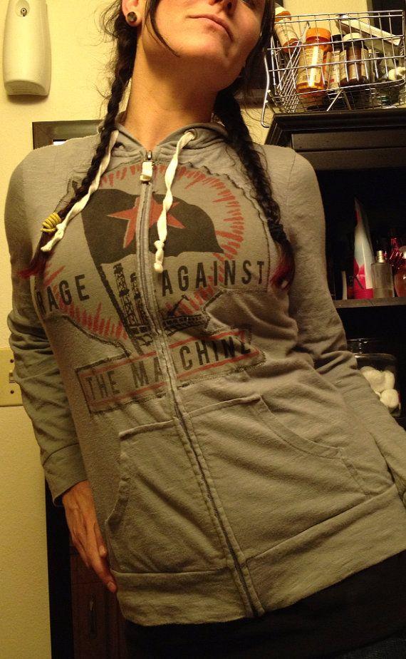 DIY Rage Against The Machine hoodie on Etsy, $35.00