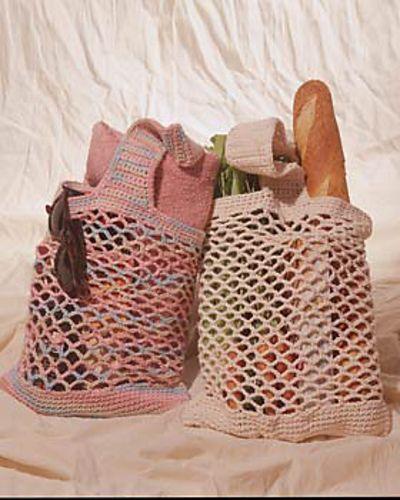 Market Bag Crochet : grocery bags