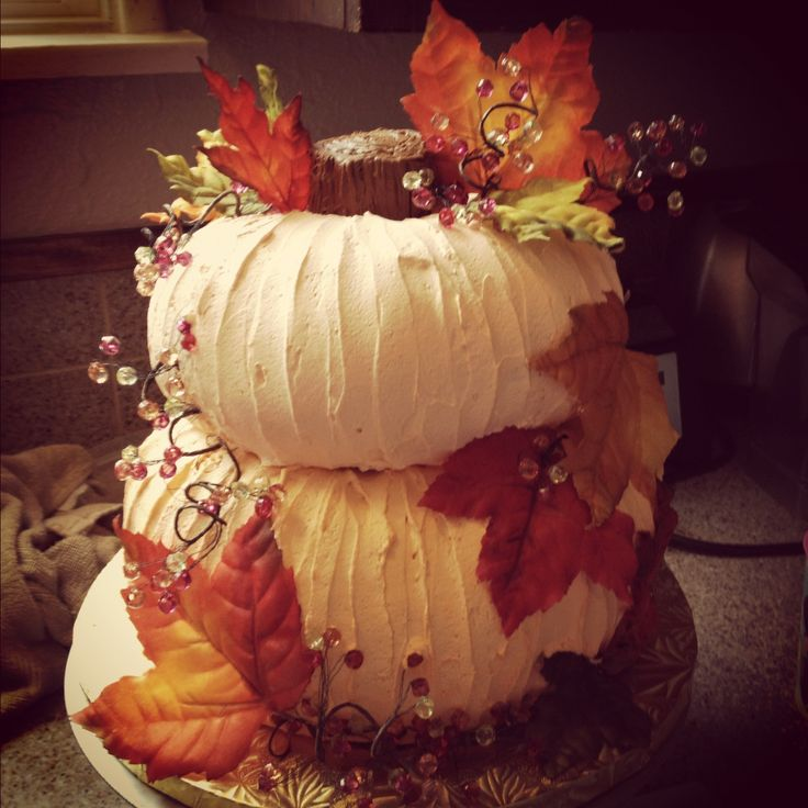 Fall themed pumpkin bridal shower cake bridal shower pinterest - Bridal shower theme ideas for fall ...