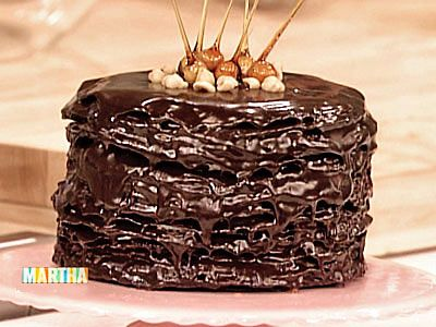 Darkest Chocolate Crepe Cake - Martha Stewart Recipes