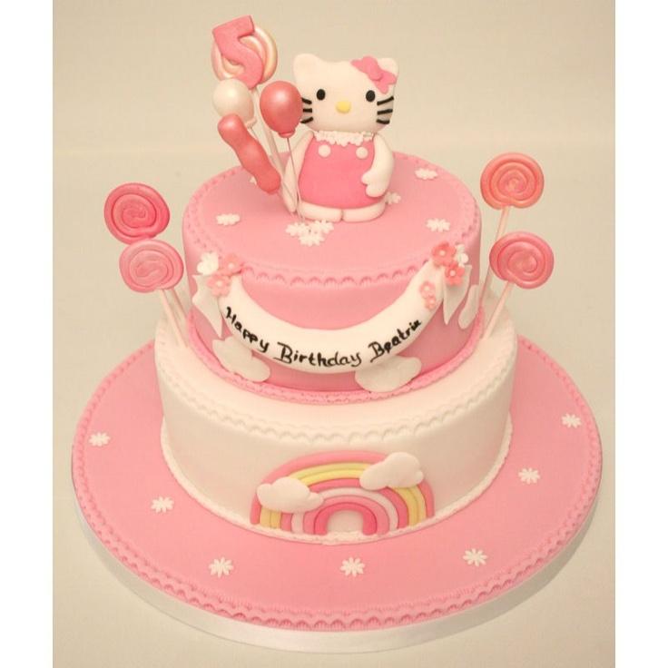 Hello Kitty 2 Tier Birthday Cake  Cakes  Pinterest