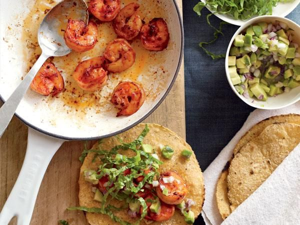 Do With Avocado : Pan-Seared Shrimp Tacos 1 warm tortilla + avocado ...